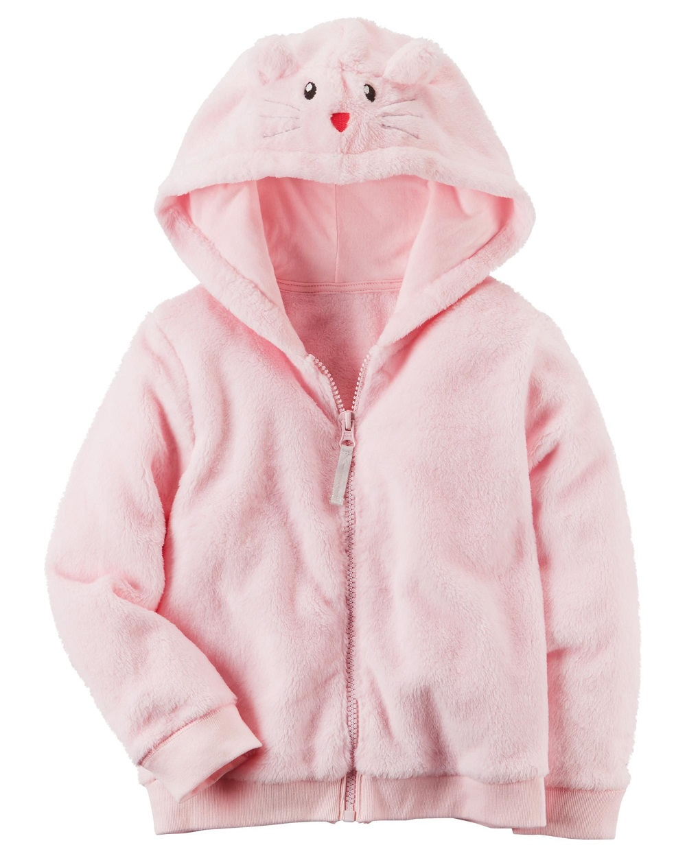Carter's Girls' 12M-4T Faux Sherpa Hoodie With Ears, 4T
