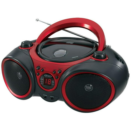 Jensen Portable Cd Player & Digital Tuner AM/FM Radio Mega Bass Reflex Stereo Sound System Plus 6ft Aux Cable to Connect Any Ipod, Iphone or Mp3 Digital Audio