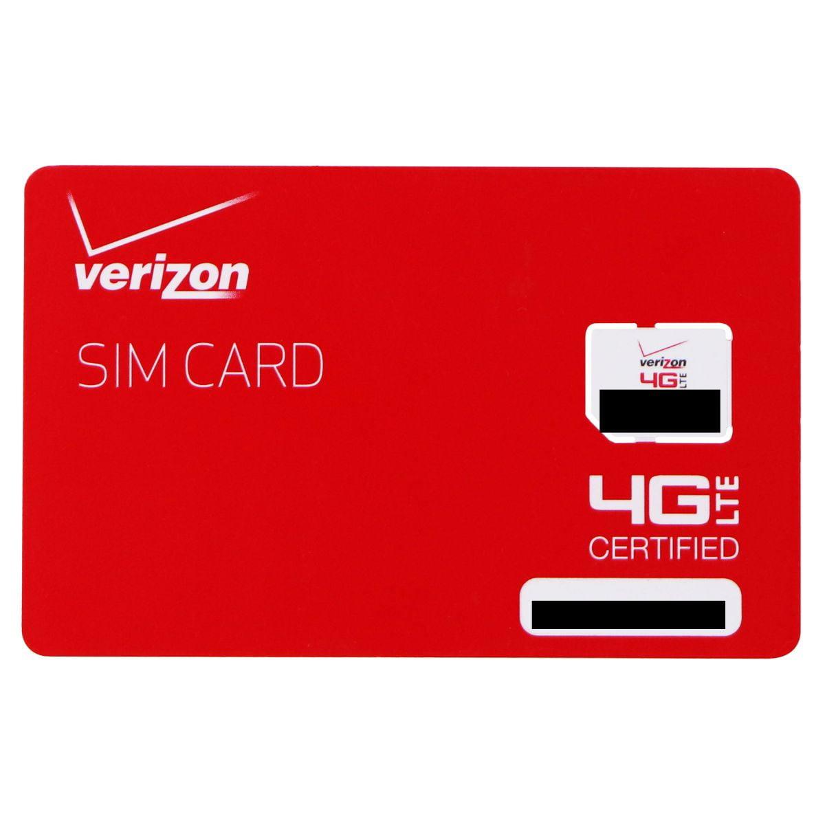 Verizon Wireless 4G LTE Micro SIM Card (BULKSIM-NFC-D)