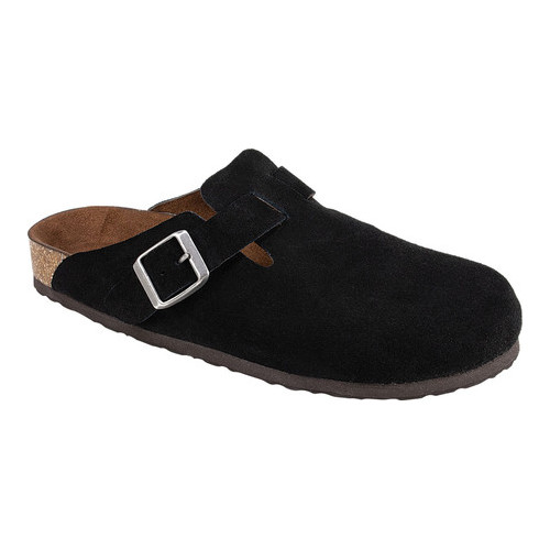 2dd999e83352 Women s White Mountain Bari Buckle Clog Black Suede 7 M