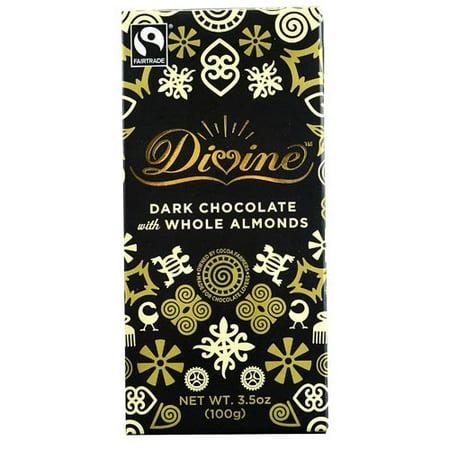 Divine Dark Chocolate - (2 Pack) Divine Chocolate Dark Chocolate Whole Almonds 3.5 oz