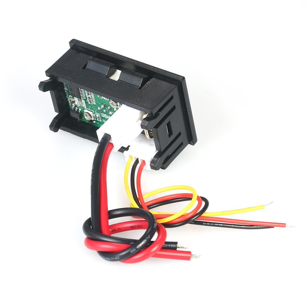 Senmubery 3 Pcs LED Num/érique 0-100V 10A Tension Amp Voltm/ètre Panneau Double Voltm/ètre Amp/èrem/ètre Testeur