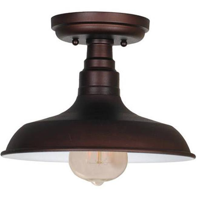 Design House 519884 Kimball 1-Light Ceiling Mount Industrial Light, Coffee Bronze Finish - image 1 de 1