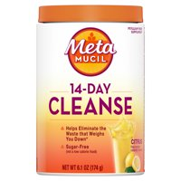 Metamucil 14-Day Cleanse Fiber Powder Supplement, Citrus, 30 Tsp