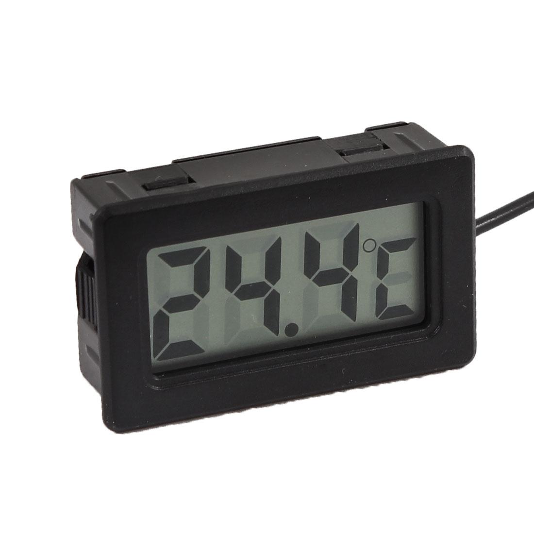 Unique Bargains Freezer -50C to + 70C Temperature Measuring Digital Thermometer