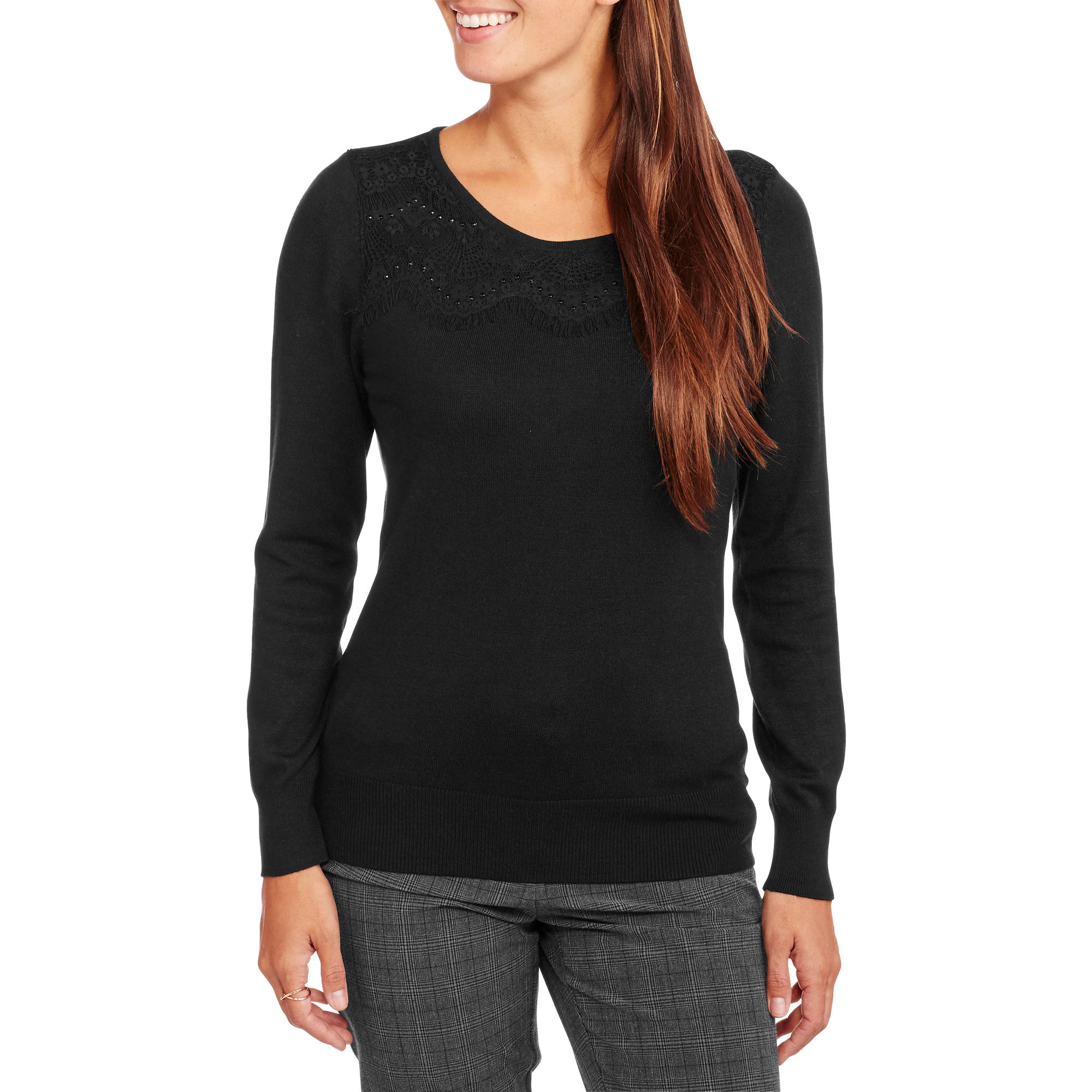 George Women's Lace Pullover  Sweater