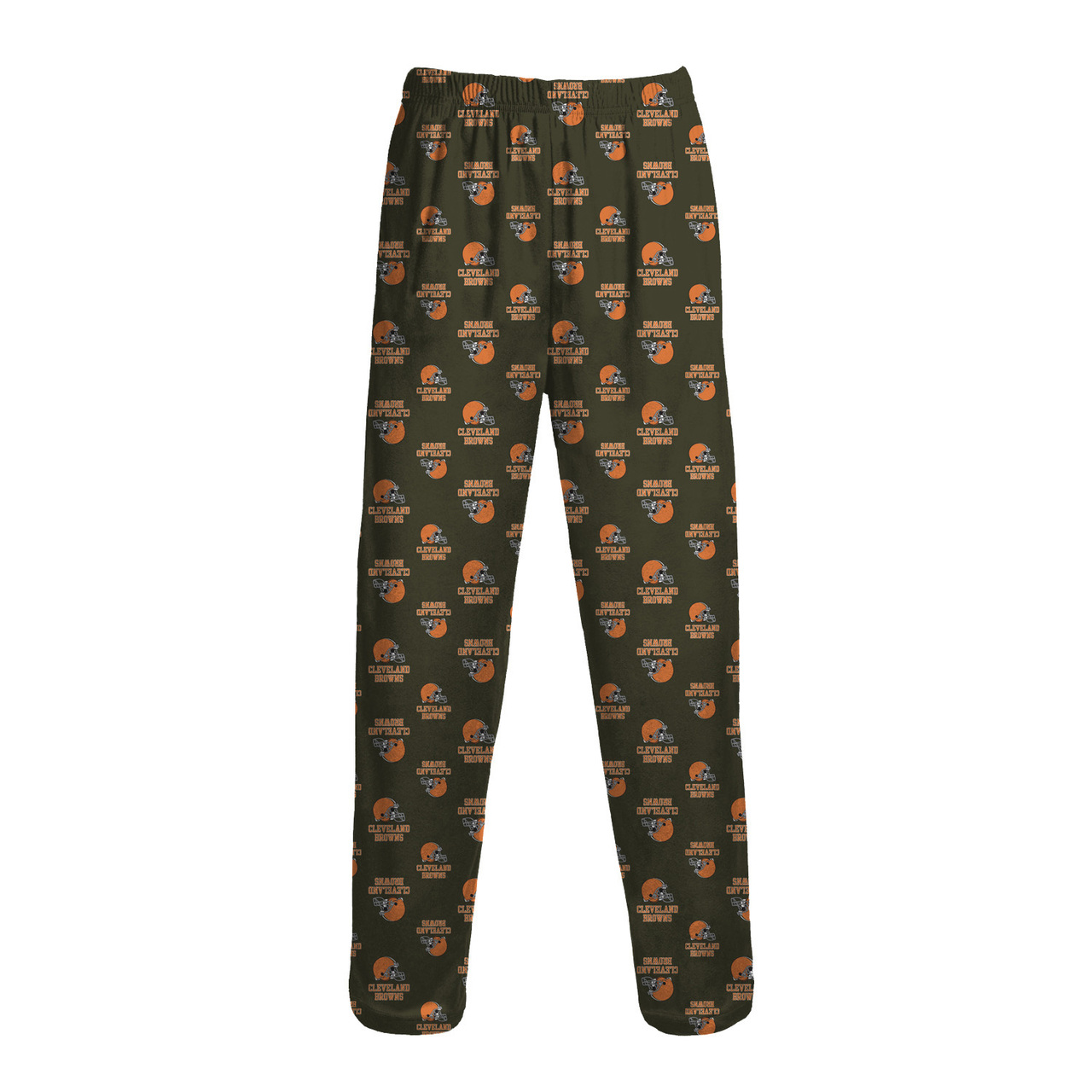 Cleveland Browns Youth Team Logo Pajama Pants - Brown