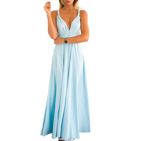 f9ef7e9f79d HIMONE - Women Evening Dress Convertible Multi Way Wrap Wedding Bridesmaid  Formal Long Maxi Dress Cocktail Party Prom Ball Gown - Walmart.com