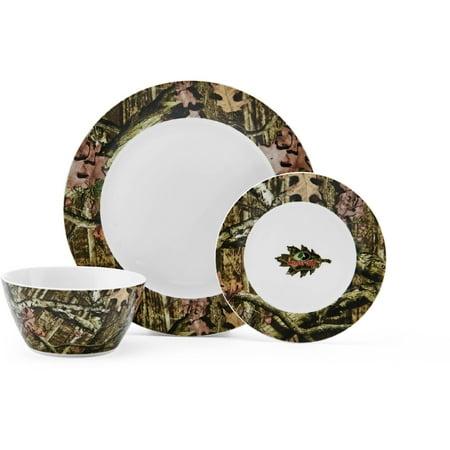 Mossy Oak Break Up Infinity Dinnerware Set, 12 Piece