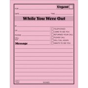 Adams, ABF9711D, While You Were Out Message Pad, 12 / Pack, Pink