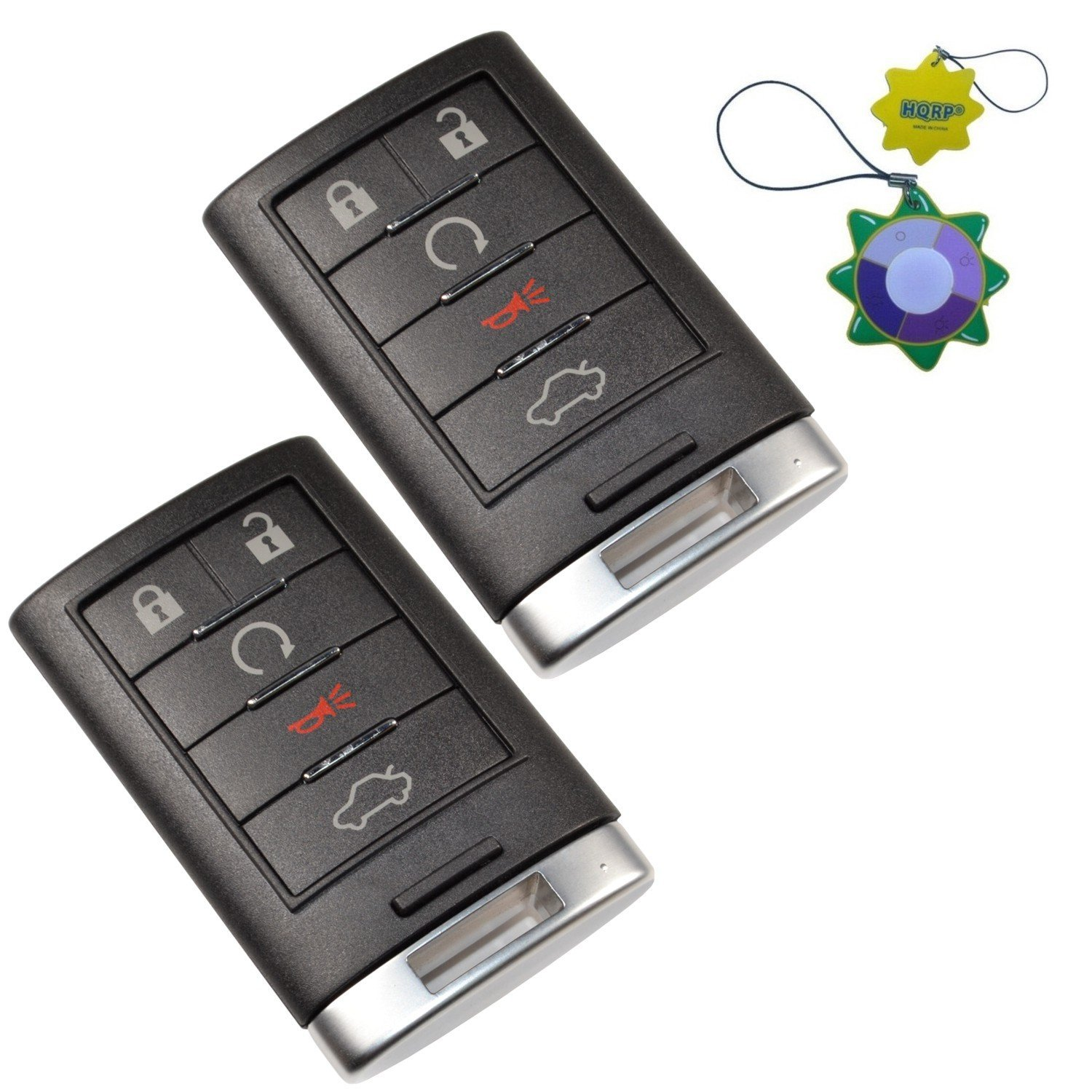 2 Pack 4 Buttons Car Key Fob Replacement Remote Fob Key Shell for Chevrolet Camaro 2010 2011 2012 2013 2014