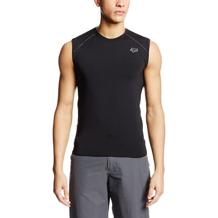 2014 First Layer Sleeveless Jersey (M, Black), 91% POLYESTER/9% SPANDEX WITH YARN WICKING By Fox Racing from USA - Fox Racing Sleeveless Jersey