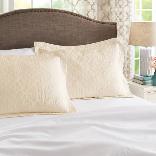 Better Homes and Gardens Solid Standard Sham Pair, Ivory