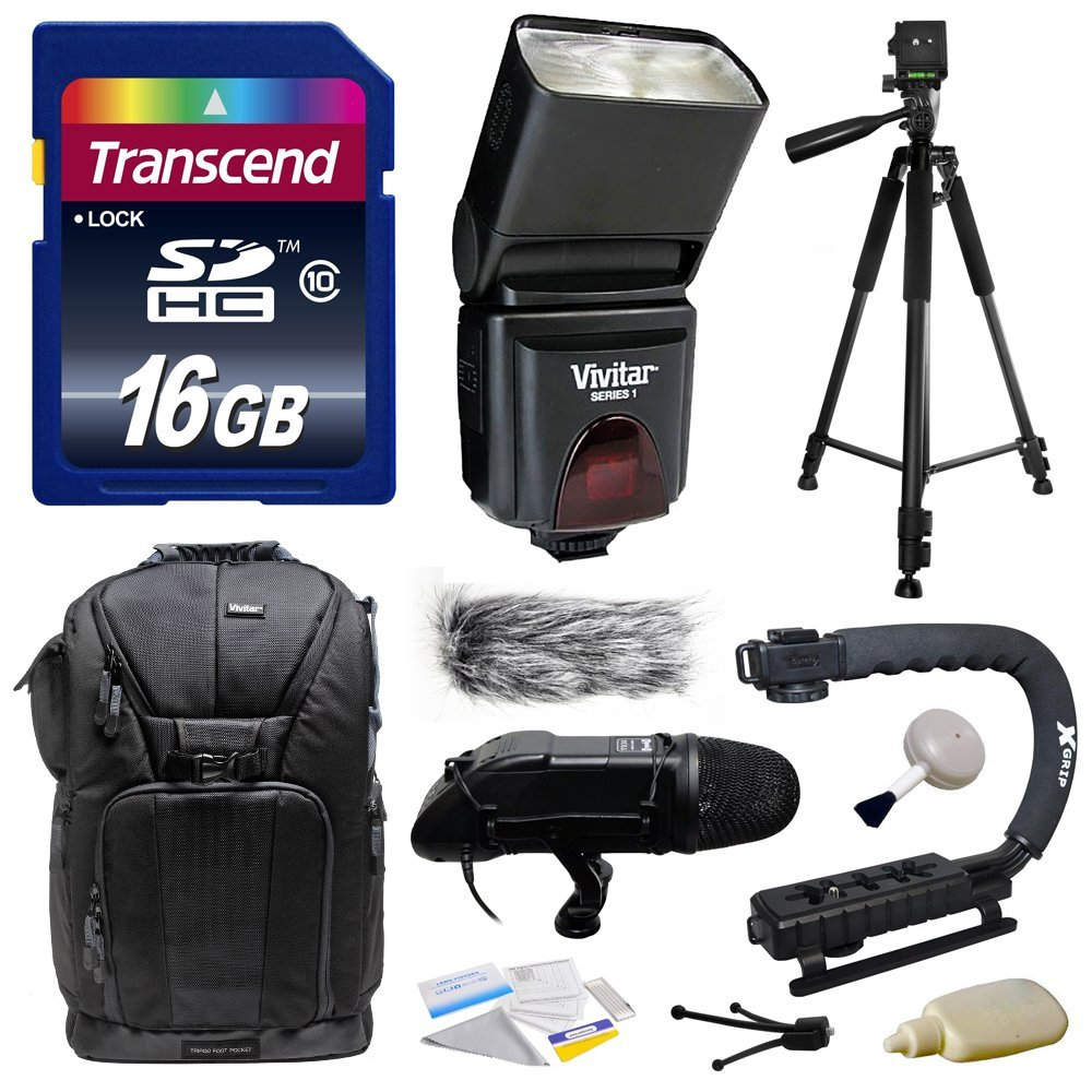 Ultimate Kit includes Transcend 16GB Memory Card, Vivitar DF-293 Shoe Mount Flash for Sony (VIVDF293S),... by Opteka