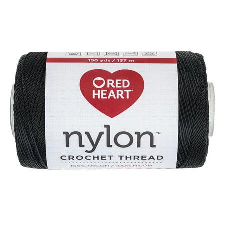Nylon Cavesson - RED HEART CROCHET NYLON 18 BLACK
