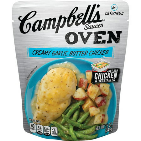 Cherry Chicken Sauce ((2 Pack) Campbell's Oven Sauces Creamy Garlic Butter Chicken, 12 oz.)