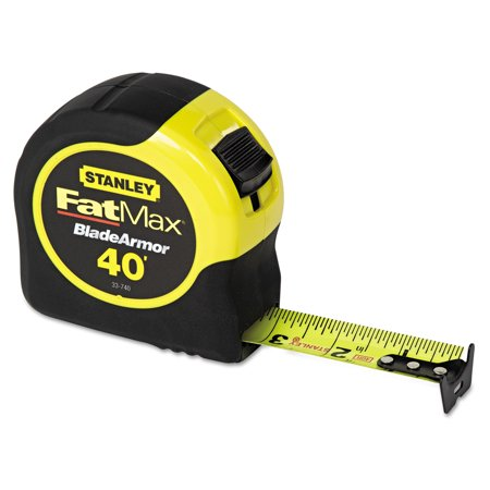 Stanley Tools FatMax Blade Armor Reinforced Tape Measure, 1 1/4in x (Surveyor Measuring Tape)