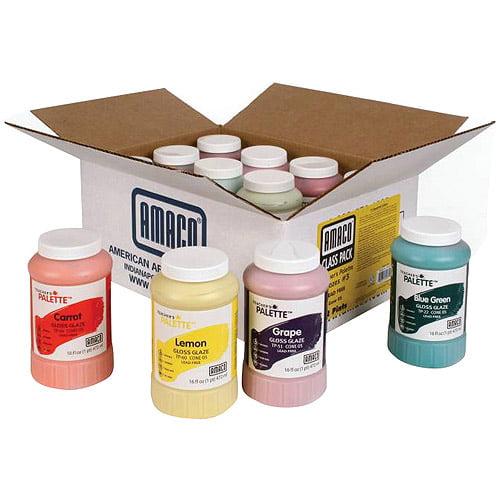 AMACO Teachers Palette Class Pack, 1-Pint, Set of 12