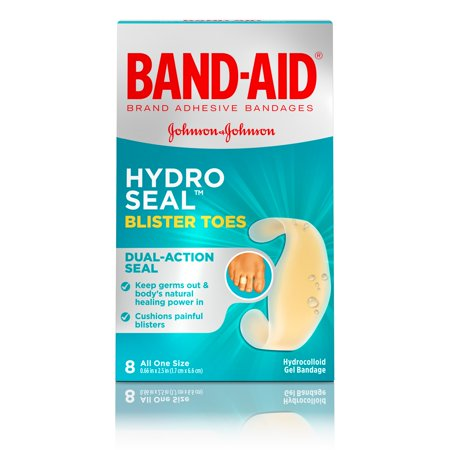 Monkey Band Aid - Band-Aid Brand Hydro Seal Adhesive Blister Toe Bandages, 8 Count
