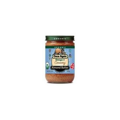 Almond Butter 95% organic Omega3 16 Oz -Pack of 12