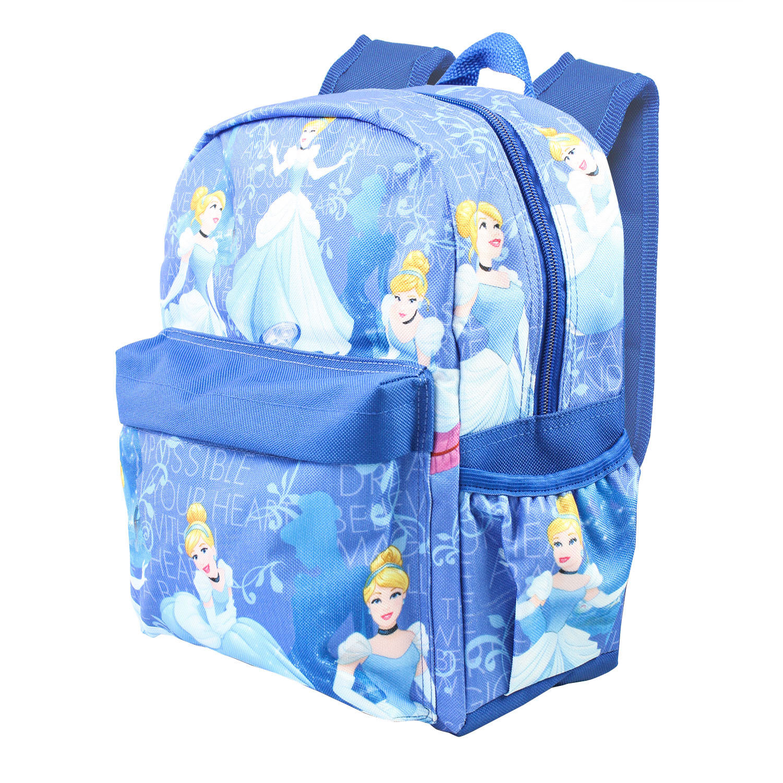 "Disney Princess Cinderella Allover Print 16"" Girls Large Backpack"
