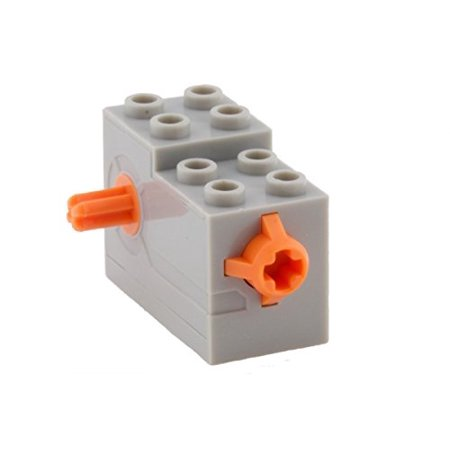 Lego Parts  Wind Up Motor 2 X 4 X 2 1 3 With Orange Release Button  Lbgray