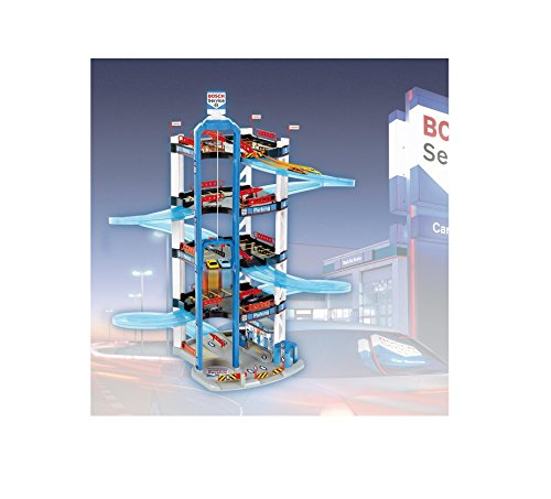 Bosch Plastic 5 Level Car Park with a Lift and Two Cars 33 X 10 X 10