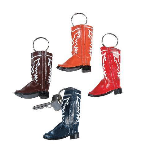 Oriental Trading IN-19/498 Cowboy Boot Key Chains Per Dozen