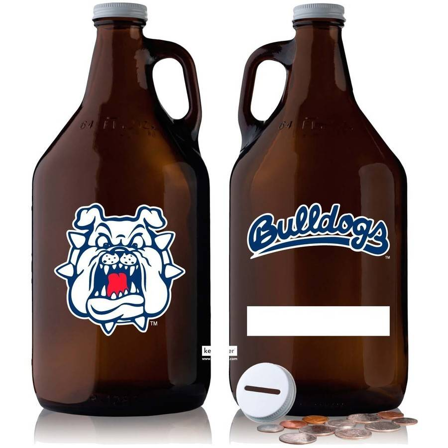 NCAA Fresno State Bulldogs 64 oz Amber Growler