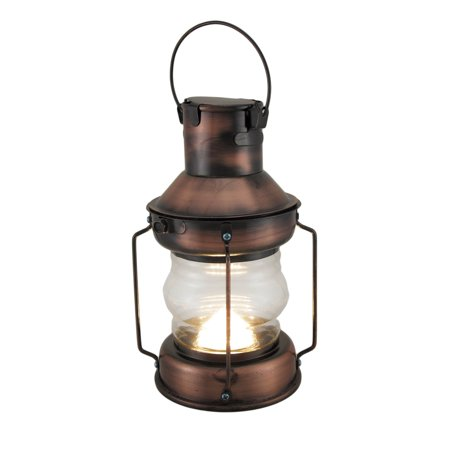 Rustic Battery Operated Antique Copper Finish Metal Lantern - image 5 of 5