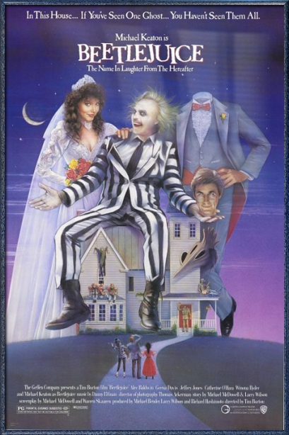 "Beetlejuice Movie Poster   Print (Tim Burton) (Size: 27"" x 40"") by"