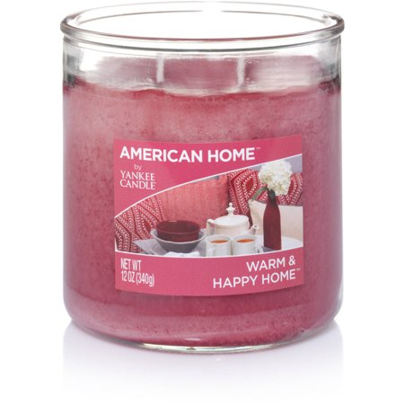 American Home By Yankee Candle Warm and Happy Home Candle, 12 oz Medium 2-Wick Tumbler