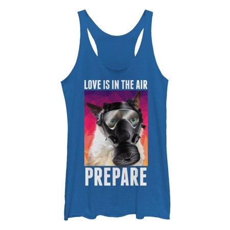 Grumpy Cat Women's Valentine's Love in the Air Gas Mask Racerback Tank Top](Grumpy Cat Mask)