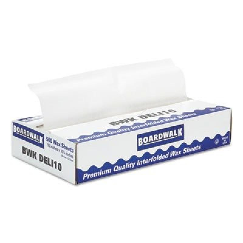 BWKDELI10 - Boardwalk Interfold-sheet Deli Paper, 10amp;quot; X 10 3/4amp;quot;, White, 500 Sheets/box