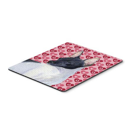 Rat Terrier Hearts Love and Valentine's Day Mouse Pad, Hot Pad or Trivet