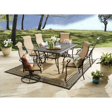 Better Homes and Gardens Southgate Drive 7 Piece Aluminum Sling Dining Set. Better Homes and Gardens Southgate Drive 7 Piece Aluminum Sling