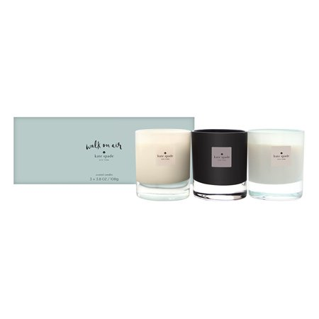 Walk On Air by Kate Spade for Women 3 Piece Set: 3.8 oz Violet Leaf + 3.8 oz Lily of the Valley + 3.8 oz Linden