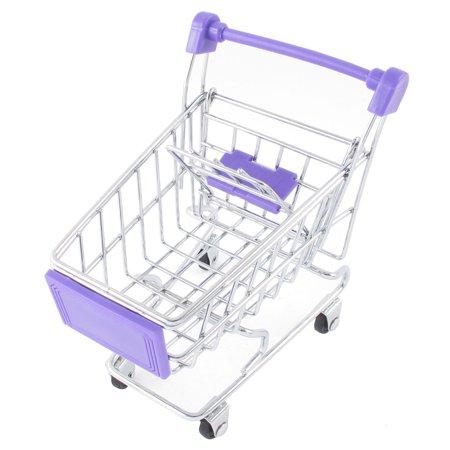 Ornament Size Unique Bargains 4 Wheels Model Toy Mini Shopping Cart Mobile Phone Storage Case