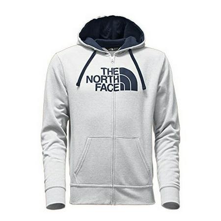 North Face Mens M HALF DOME FULL ZIP HOODIE, TNF Light Grey Heather (STD)/Cosmic Blue, XL