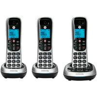 Motorola CD4013 CD4 Series Digital Cordless Telephone with Answering Machine (3 Handsets)