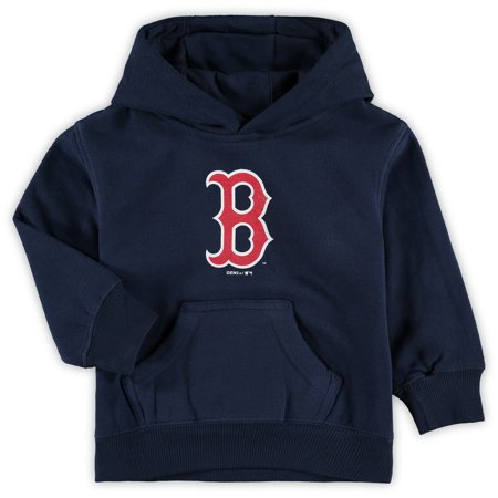 Boston Red Sox Toddler Primary Logo Fleece Pullover Hoodie - Navy