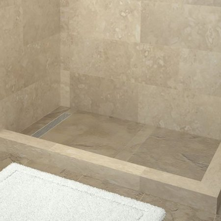 Tile Redi Plank Pitch Double Threshold Shower Base with Drain