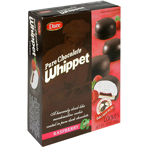 Dare Pure Chocolate Whippet Raspberry Cookies, 8.8 oz (Pack of 12)