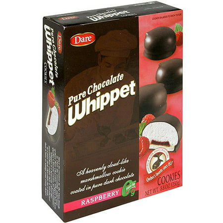 Dare Pure Chocolate Whippet Raspberry Cookies, 8.8 oz (Pack of 12) (Chocolate Raspberry Torte)
