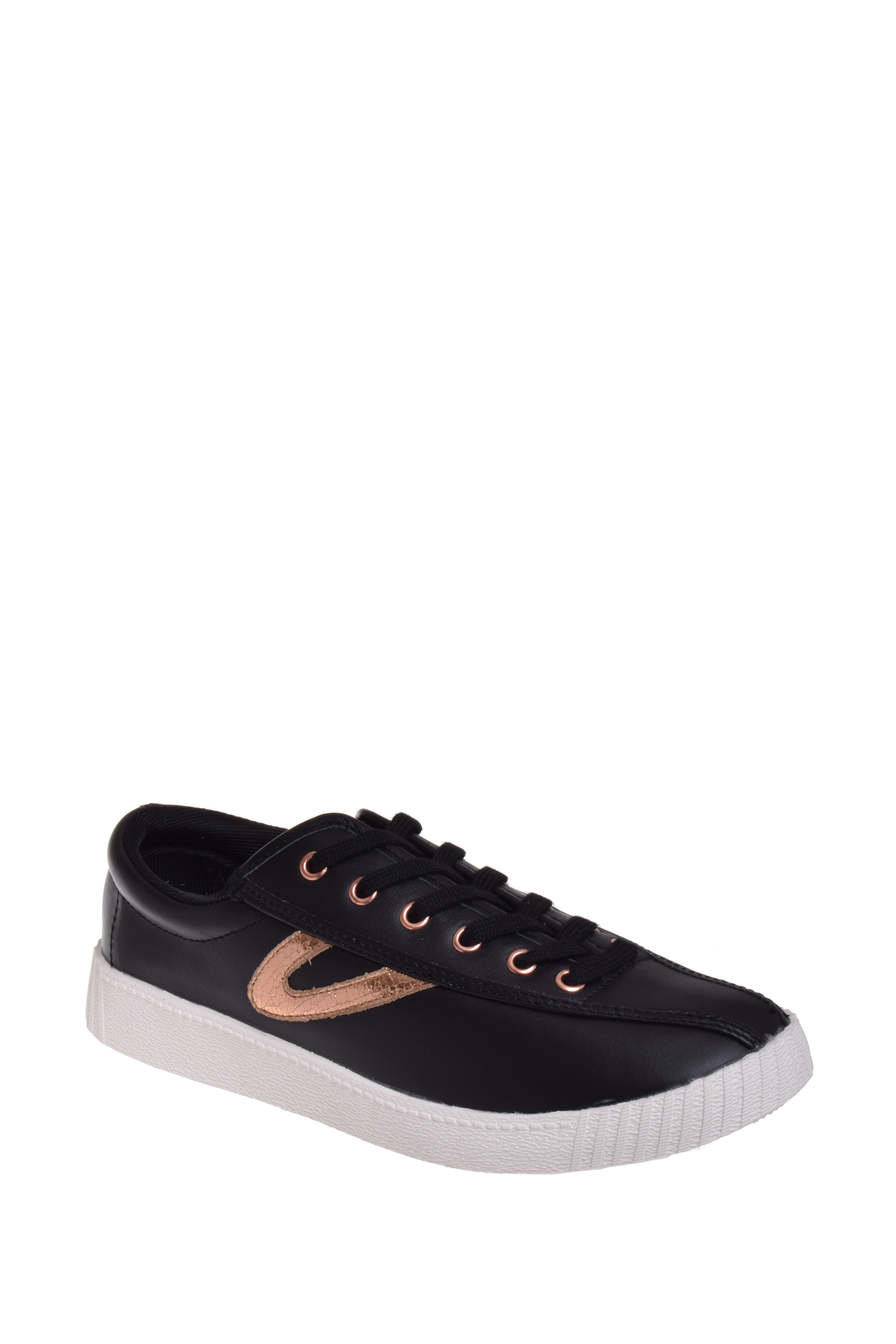 Tretorn Nylite 2 Plus Low Top Sneaker Black   Rose Gold by