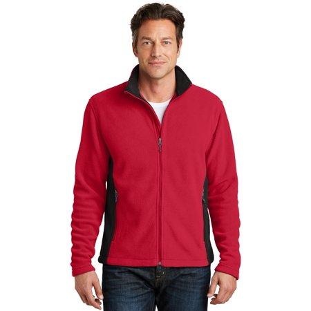 Port Authority® Colorblock Value Fleece Jacket. F216 Rich Red/ Black M - image 1 de 1