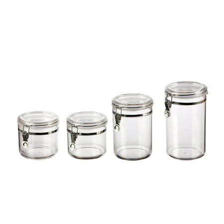 Mainstays Classical 4-Piece Canister Set, Clear