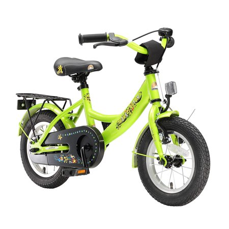 BIKESTAR Original Premium Safety Sport Kids Bike Bicycle with sidestand and Accessories for Age 3 Year Old Children | 12 Inch Modern Edition for Boys |