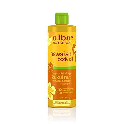 alba botanica hawaiian, kukui nut body oil, 8.5 ounce