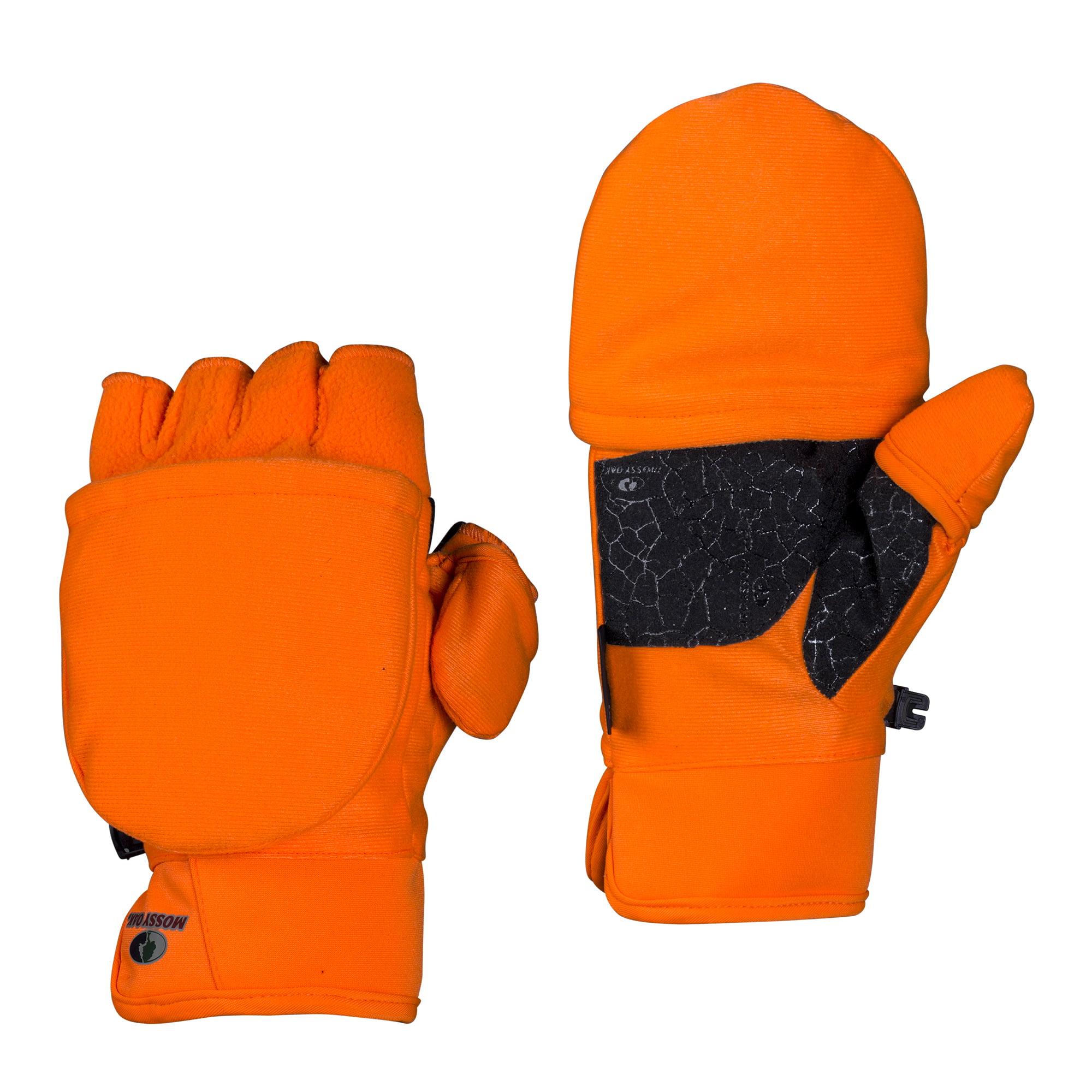 Mossy Oak Blaze Orange Youth Pop-Top Gloves